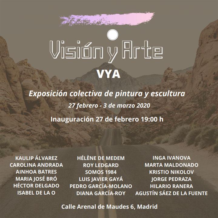 exposición colectiva de carolina andrada visión y arte madrid